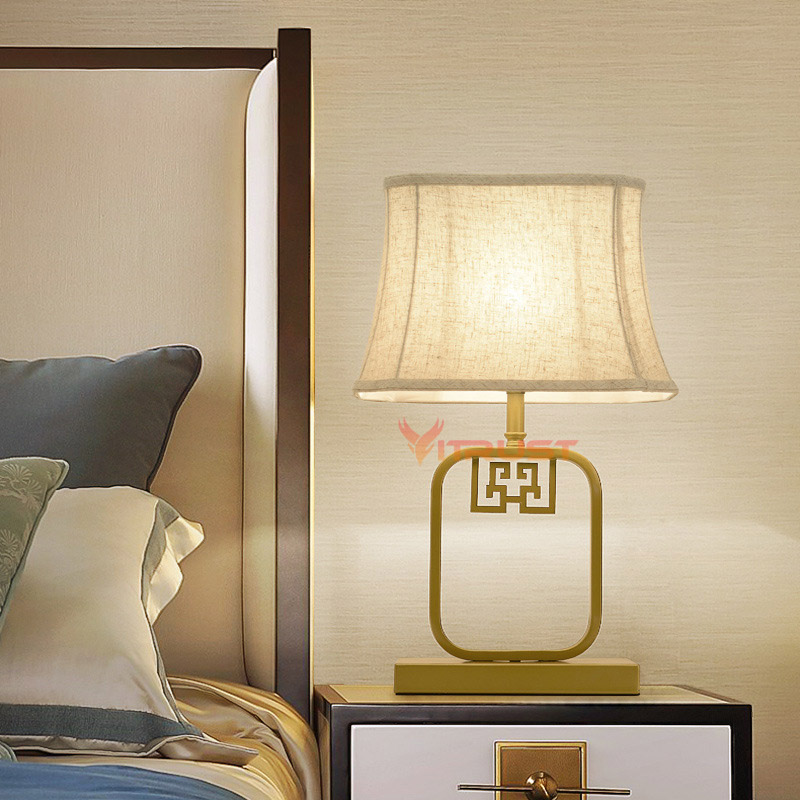 US $72.51 38% OFF|Modern Table Lamps Bedroom Bedside Lights Lamparas LED  Table Lamp Fabric Desk Lamp Light Lampe Deco for Living Room-in Table Lamps  ...