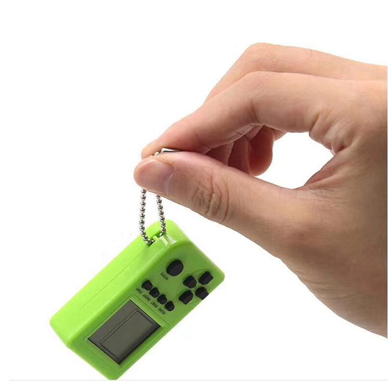 DishyKooker Mini Child Video Game Console Capsule Toy Twisted Egg Built-in 26 Games Use for Key Chain Ring Holder Kids