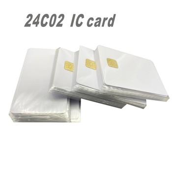ISO 7816 biały AT24C02 Chip contact inteligentna karta elektroniczna z pamięcią EEPROM 2K dla systemu kontroli dostępu 10 sztuk tanie i dobre opinie HVTSQGJ Pasywne Karty Odczytu zapisu ISO Karty Karty IC kontakt 13 56 MHz 85*54*0 8MM