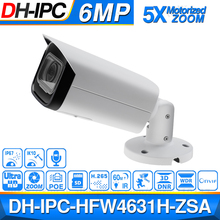 Dahua IPC HFW4631H ZSA 6MP IP Camera Upgrade from IPC HFW4431R Z Build In MiC Micro SD Card Slot 5X Zoom PoE Camera