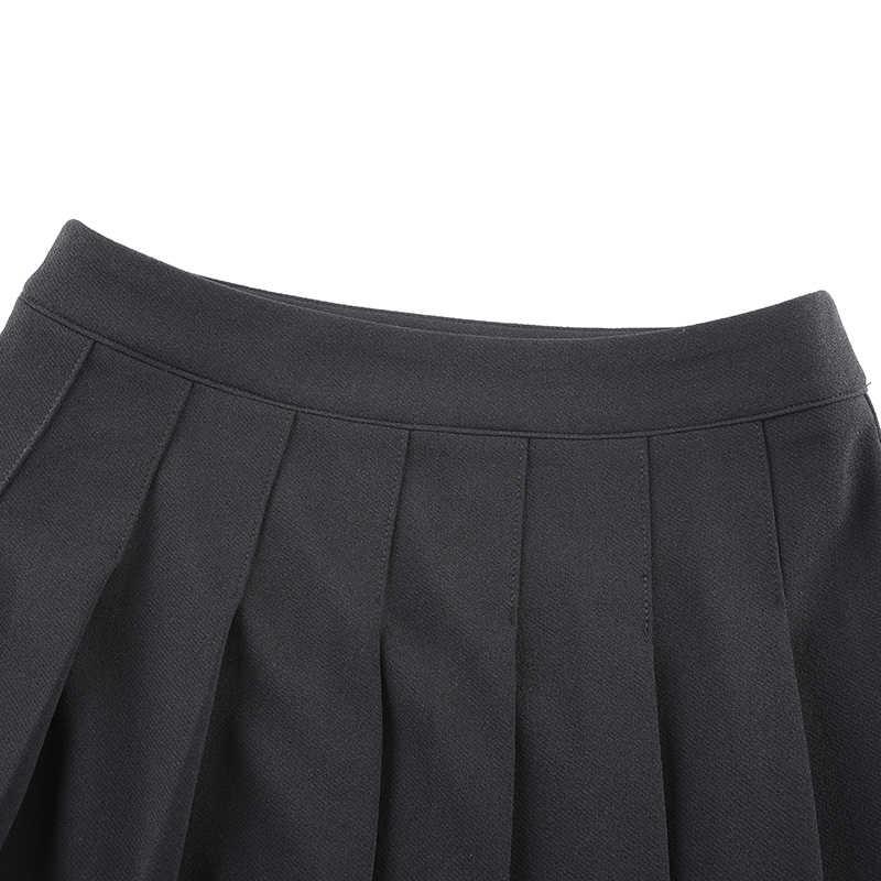 SUCHCUTE Pleated women skirts Modis 고딕 a 라인 미니 스커트 봄 2020 black streetwear wild chrismas party outfits