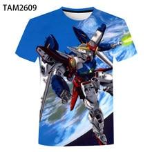 Fashion Home 3D T-Shirt Men's Women's Summer Gundam Print Anime Top Loose Comfort Short Sleeve