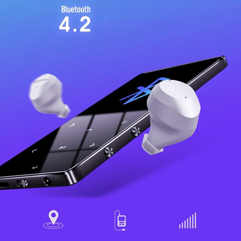 Lecteur MP4 avec Bluetooth haut-parleur intégré touche tactile FM Radio vidéo jouer E-book HIFI métal MP 4 lecteur de musique 8G 16G