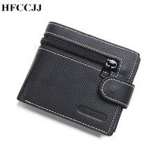 NEW 100% Genuine Leather Brand Men's Wallets Design Short Sm