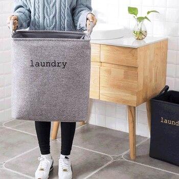 Cesto para ropa sucia EVA de doble tela, cesto de lavandería plegable con asas, Cubo de almacenamiento cuadrado, cubo para juguetes para el hogar, 1 Uds.
