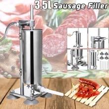 1PC Manual Sausage Fill Meat Stuffer Stainless Steel Sausage Filling Machine Homemade Sausage Syringe Sausage Maker HWC