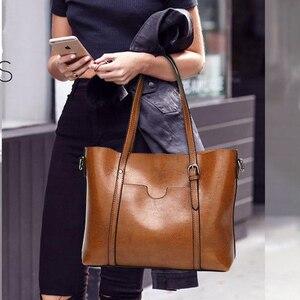 Image 5 - נשים שקיות לנשים 2020 מפורסם מותג יוקרה תיקי נשים תיק מעצב כתף Crossbody תיק Tote רך עור תיק bolsa