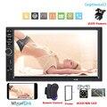 Автомагнитола 2 Din с сенсорным экраном 7 дюймов, мультимедийный плеер с поддержкой MP5, Bluetooth, MirrorLink, USB, TF, FM-камерой