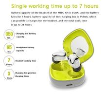 MIfo O4 Mini oryginalne słuchawki bezprzewodowe Bluetooth 5.0 słuchawki sportowe słuchawki douszne redukcja szumów mikro słuchawka obsługa bezprzewodowego ładowania