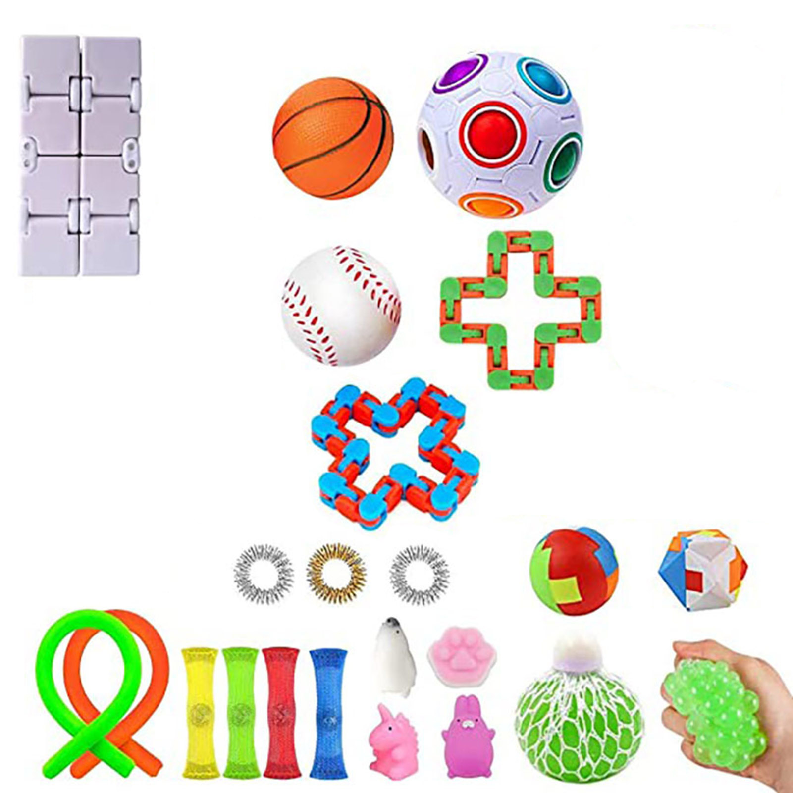 Fidget Sensory Toys Set Anti Stress Marble Ball Autism Anxiety Relief Stress Squeeze img4