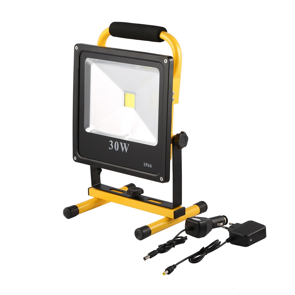 Super Bright LED Rechargeable Flood Light Series 1*30W Work Light 2700LM IP65 2700-7000K 120 Degree Beam Angle 50000 Hrs Life