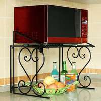 New Home Microwave Oven Rack Kitchen Shelf Organizer Stainless Steel Kitchen Storage Rack Over the Oven Shelf Kitchen Tool Organ