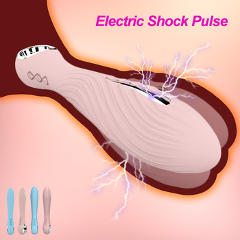 Powerful Electric Shock Pulse Vibrator G-spot USB Rechargable Clitoris Stimulator Massager Adult Sex Toys For Women Masturbation