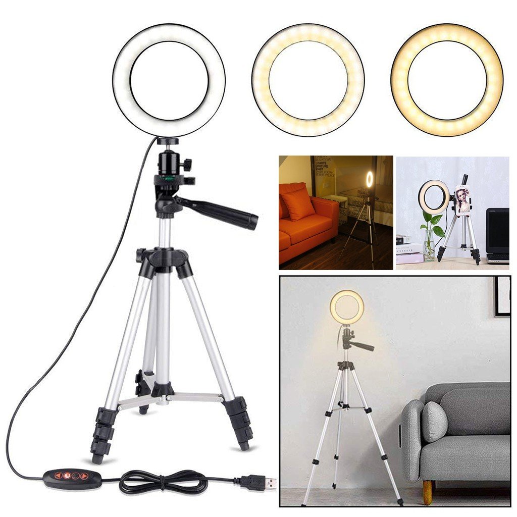 5 7inch LED SMD Ring Light Kit With Stand Dimmable 5500K For Camera Makeup Phone Flash lens beauty Fill Light Lamp for Photo