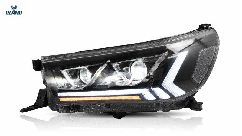 Vland Factory For Car Headlight For Hilux Headlight 2015 2016 2017 2018 2019 Full Led For Revo Head Lamp