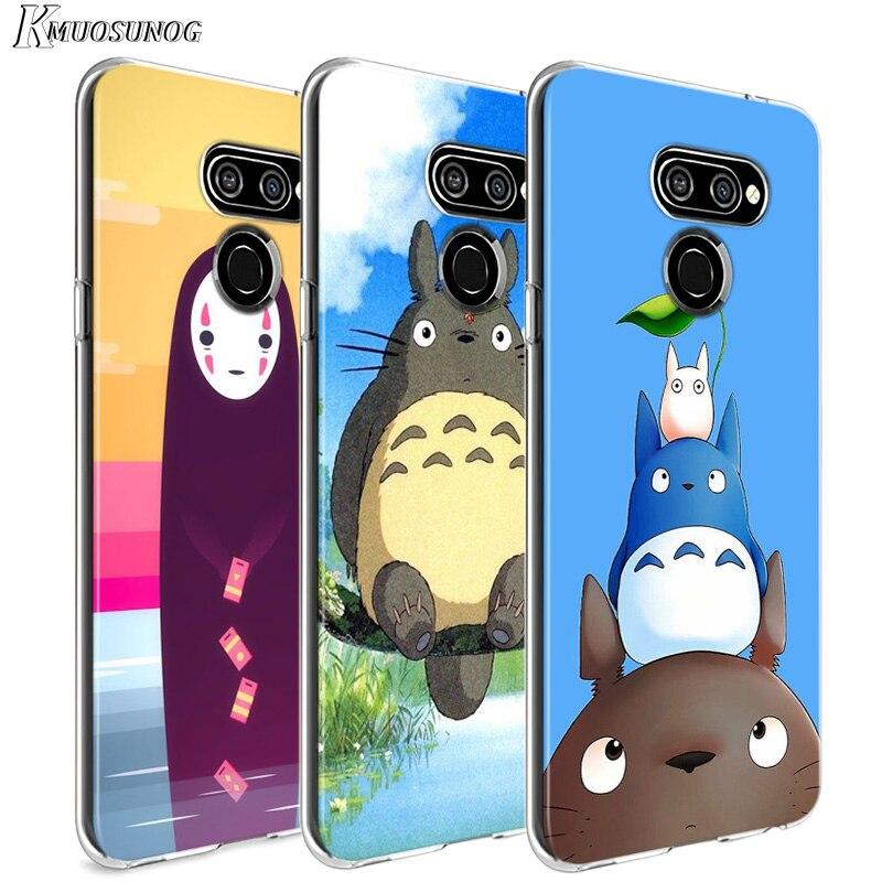 Anime Totoro Ghibli Spirited For LG W20 W10 V50S V50 V40 V30 K50S K40S K30 K20 Q60 Q8 Q7 Q6 G8 G7 G6 Thinq Phone Case