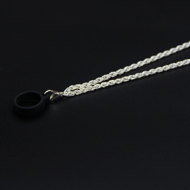 Electronic cigarette metal chain lanyard Metal Material Silicone Lanyard necklace for RELX YOOZ Nord Kit JUUL in Electronic Cigarette Accessories from Consumer Electronics