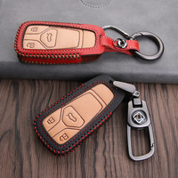Leather Car Key Cover Protection Case for Audi A5 Q7 S4 S5 A4 B9 A4L 4m TT TTS RS 8 S A6L QT S7 A4L A6 Q5 SQ5 A6 C8 A7 A8 Q8|Key Case for Car| |  -