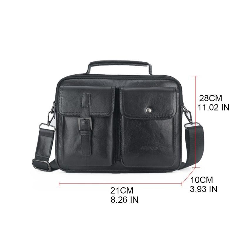 Men's Vintage Leather Briefcase Business Cases Shoulder Messenger Crossbody Bag Handbag C90E