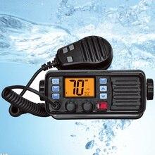 Recente RS 507M vhf rádio marinho com gps 25w walkie talkie ip67 à prova dip67 água móvel barco estação de rádio vhf