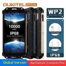"""OUKITEL WP2 IP68 водонепроницаемый пылезащитный ударопрочный мобильный телефон 4 Гб 64 Гб MT6750T Восьмиядерный 6,"""" 18:9 10000 мАч смартфон с отпечатком пальца"""