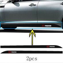 2 шт. автомобильный значок с боковой застежкой углеродного волокна наклейки на авто наклейка с логотипом для Mazdas 2 6 3 седан 121 323 626 TRIBUTE MX-5 MPV Су...