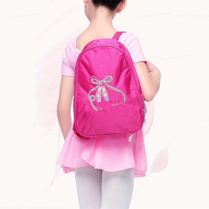 Ballet Dance Bags Pink Backpack Child Girls Embroidered Shoulder Bags  Student School Backpack
