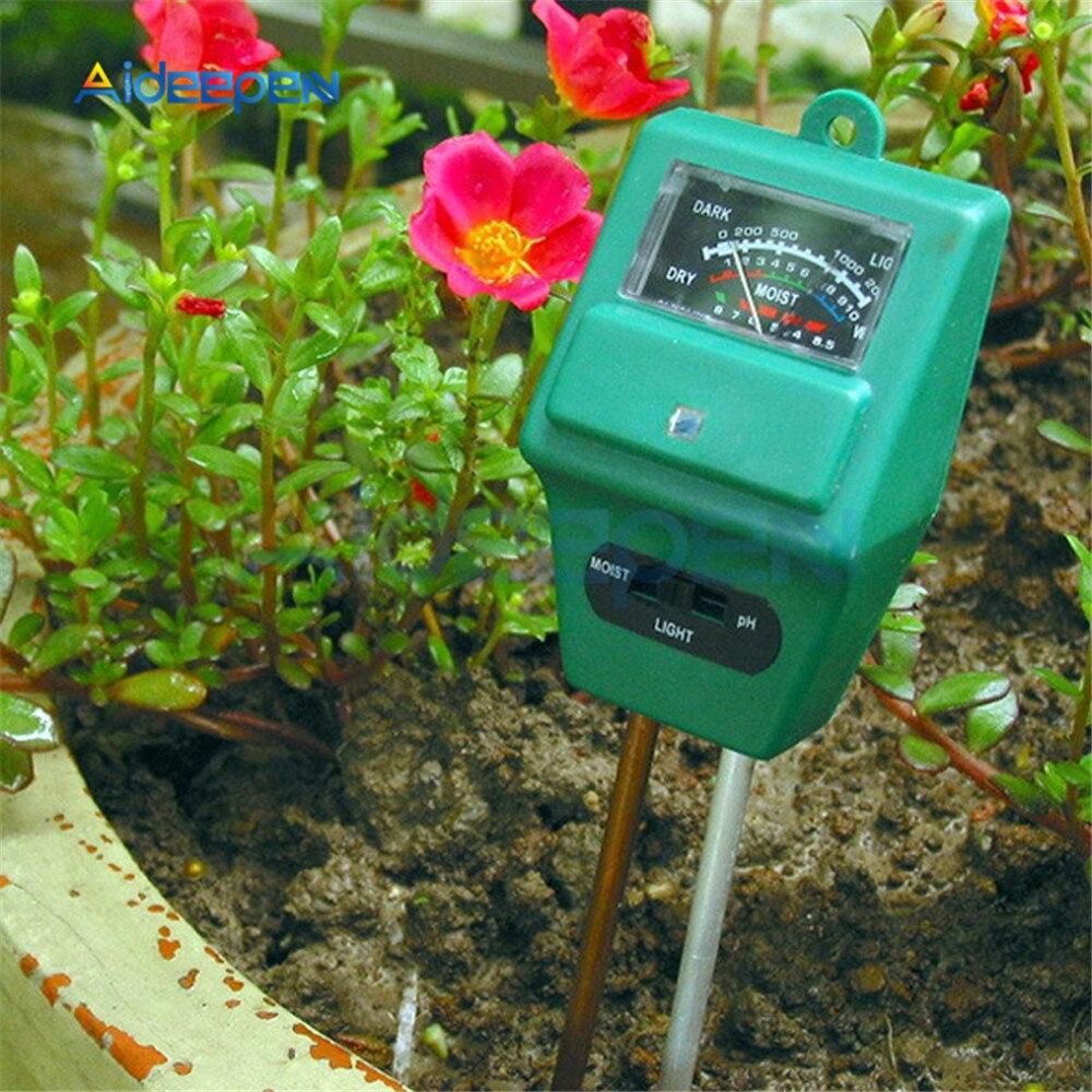 Цифровой измеритель влажности почвы 3 в 1, рН метр для измерения кислотности растений и цветов, садовые инструменты|Измерители pH|   | АлиЭкспресс