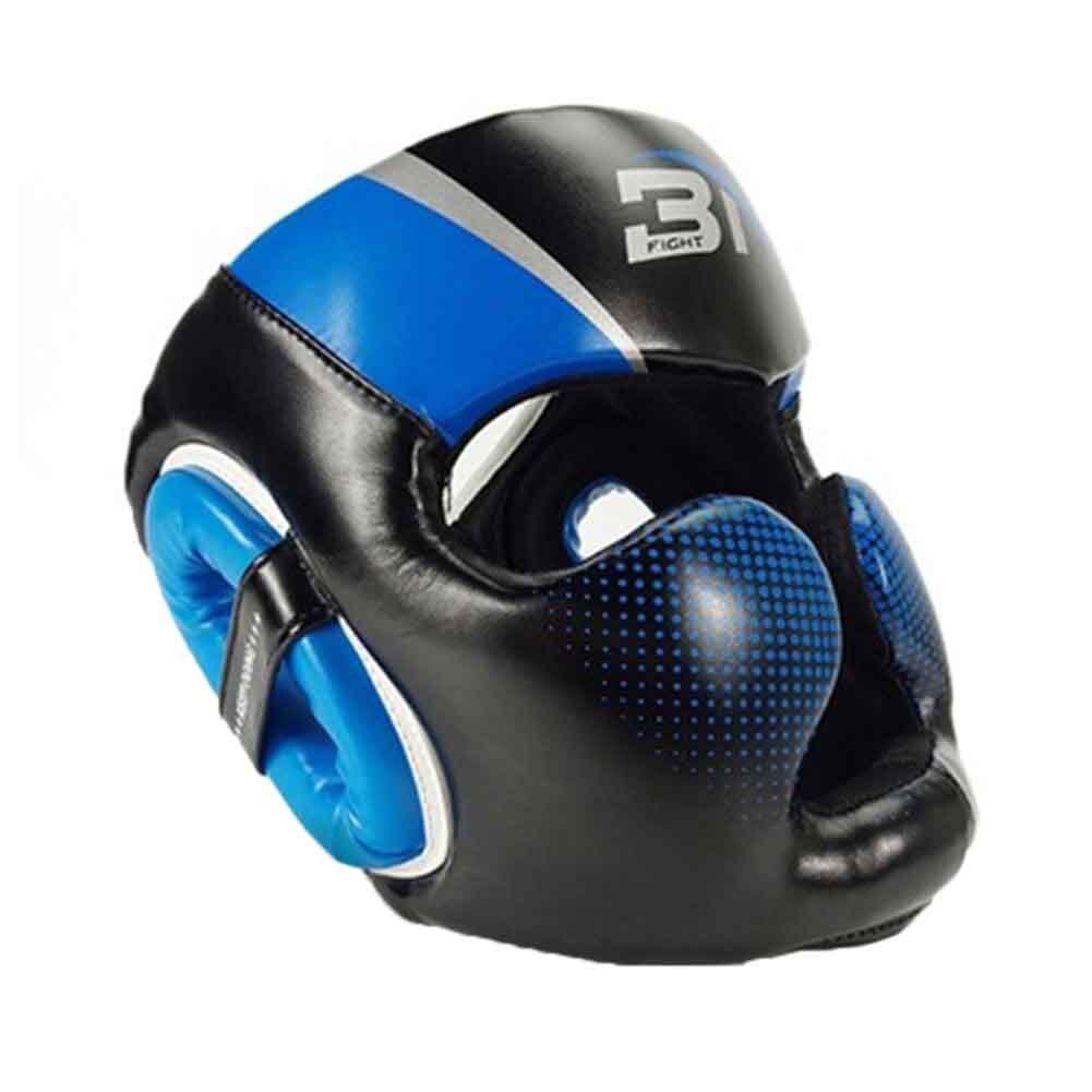 Для женщин мужчин молодежи взрослых атлет соревнований тхэквондо из искусственной кожи Муай Тай головные уборы боксерский шлем Защита спарринг каратэ Санда - Цвет: Синий