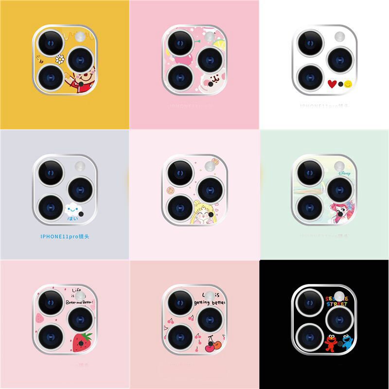 NEW Cartoon 3D Lens For IPhone 11Pro Camera Lens For IPhone 11 Pro MAX Camera Lens Cute Film Aluminum Plastic Lens Protection