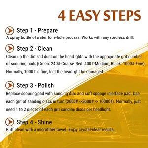 Image 5 - 車のヘッドライト DIY 研磨キット曇りライトテールライトフォグランプ研磨自動ヘッドライト修復キット電気ドリル用