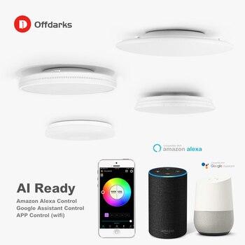 Moderne Led Smart Plafondlamp Wifi/App Intelligente Control Plafondlamp Rgb Dimbaar 48W  3
