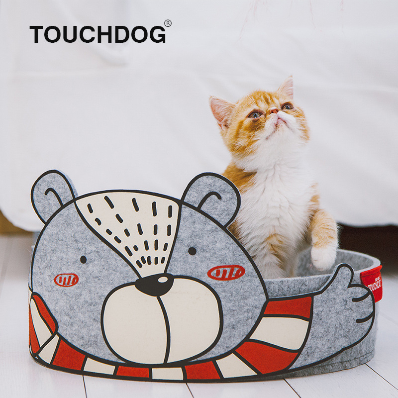 Touchdog 2019 New Products Quality Cat Nest Cat Teaser Toy Dual Purpose Deconstructable Cat Pet Toy Supplies