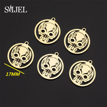 Skeleton Stainless Steel Mexican Skull Charms for Jewelry Making DIY Necklace Bracelets Accessories Biker Rock Roll Punk Jewelry(China)