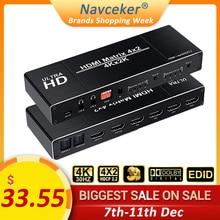 2020 أفضل 4K 4x2 HDMI مصفوفة موزع فصل الجلاد EDID إعداد HDMI التبديل 4x2 مع ثنائي SPDIF & البصرية Toslink HDMI مصفوفة