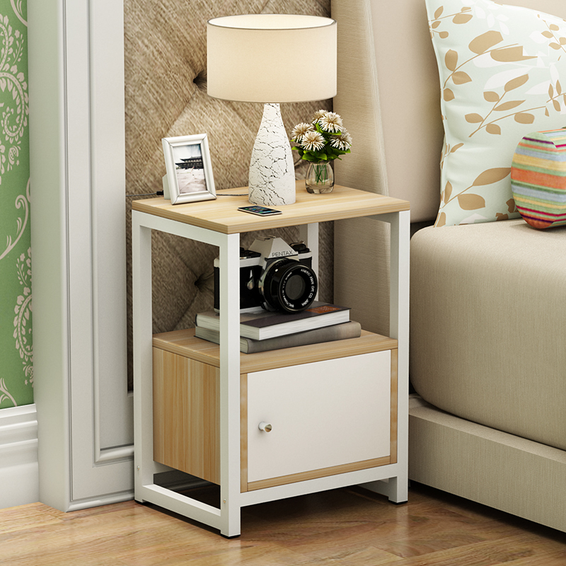 38%Simple And Modern Bedside Cabinet Modern Cupboard Mini Locker North European Solid Wood
