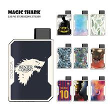 Magic Shark Old School Game of Thrones Iron Man Batman Leaf Messi Jersey Skin Film Vape Case Sticker for Voopoo Drag Nano new smok slm stick thick vapor pod vape kit 250mah electronic cigarette kit small vape pen kit vs smok nord drag nano minifit