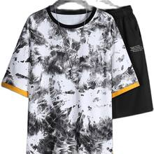 Oscar summer new short sleeve shorts suit male Korean version trend youth leisure sports suit Hong Kong wind