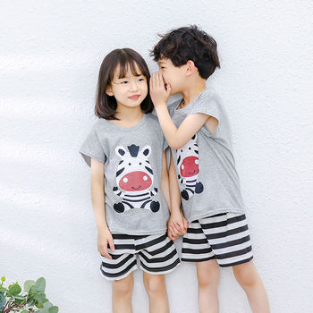 Unisex Summer Short-Sleeve Sleepwear