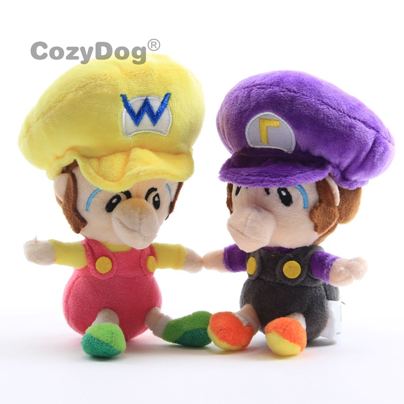 Baby Wluigi /& Baby Wario Plush 6/'/' Set 2pcs Super Mario Bros