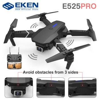 E525 pro rc quadcopter profissional obstáculo evitar zangão câmera dupla 1080p 4k altura fixa mini dron helicóptero brinquedo 1