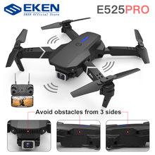 Drone E525 PRO RC double caméra 1080P 4K, jouet hélicoptère à hauteur fixe pour éviter les obstacles