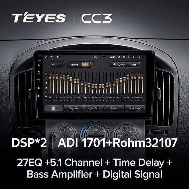 TEYES CC3 Штатная магнитола For Хендай Н1 TQ For Hyundai H1 TQ 2007 - 2015 до 8-ЯДЕР, до 6 + 128ГБ 27EQ + DSP carplay автомагнитола 2 DIN DVD GPS android 10 мультимедиа автомобиля головное устройство 4