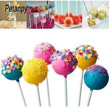 100/200/300pcs 10cm Lollipop Stick Food-Grade Plastic Pop Sucker Sticks Cake For Lollypop Candy Chocolate Sugar Pole
