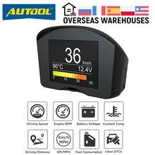 AUTOOL X50 Plus HUD Head up Display Car OBD Smart Fuel consumption meter Temperature Gauge Alarm Fault Code Voltage Speedometer