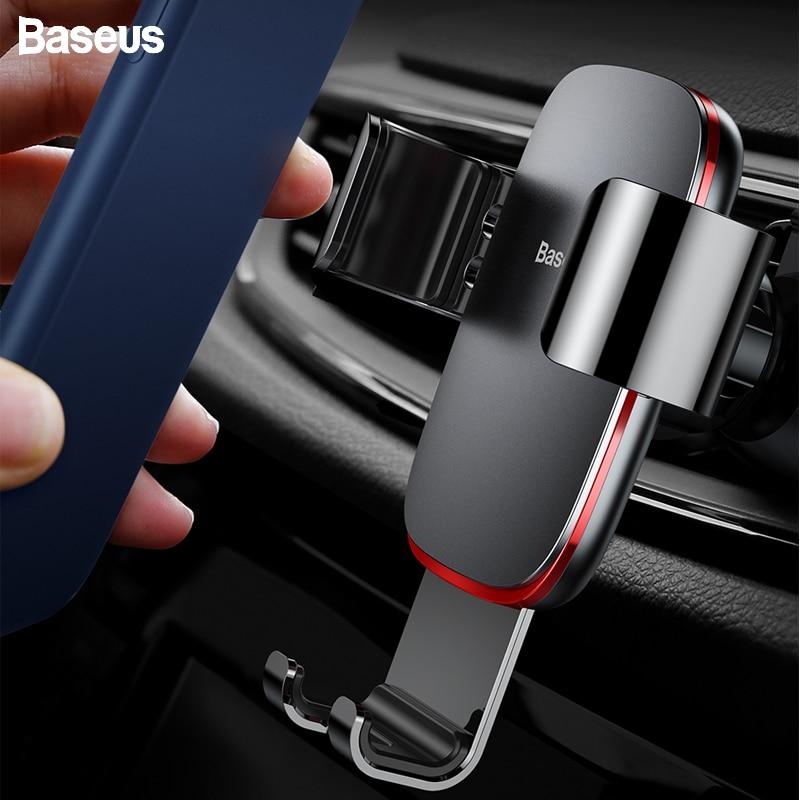 Baseus Support universel de Voiture pour téléphone portable pour iPhone 11 Samsung Voiture évent Support de montage en métal gravité Support téléphone Voiture Support