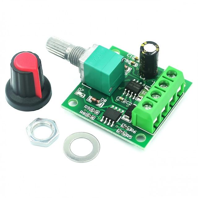 Controlador de velocidad del Motor, controlador de velocidad del Motor PWM 0 ~ 100%, ajustable, 1,8 V, 3V, 5V, 6V, 12V, 2A, Módulo regulador
