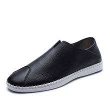 38-47 2020 Mens Genuine Leather Shoes Fashion Outdoor Male Man Loafers Men's Casual For Men Flats