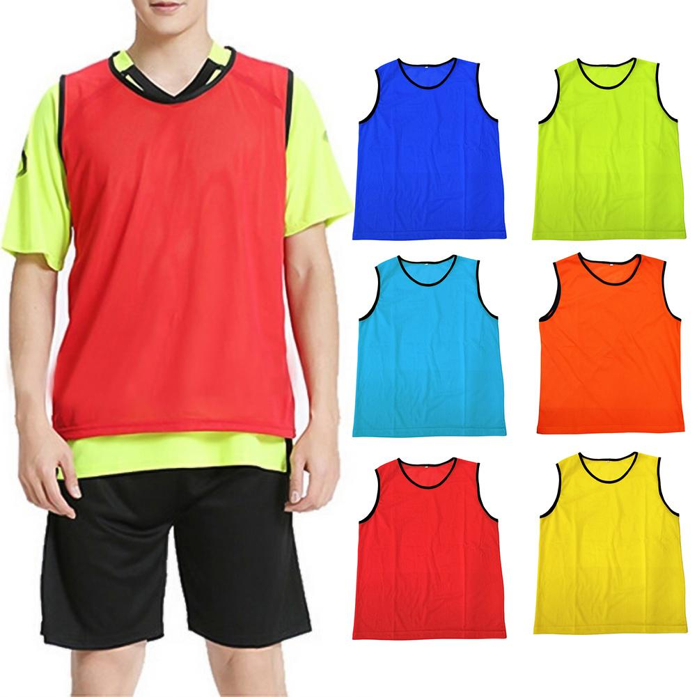 Unisex Kids Adult Soccer Quick Drying Jerseys Outdoor Sports Vest Breathable Football Training Match Mesh Sleeveless Vest Top