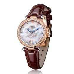 Zwitserland Luxe Merk Horloges LOBINNI Japan Import Mechanisch Horloge Dame Fashion Diamanten Waterbestendig Klok L2008